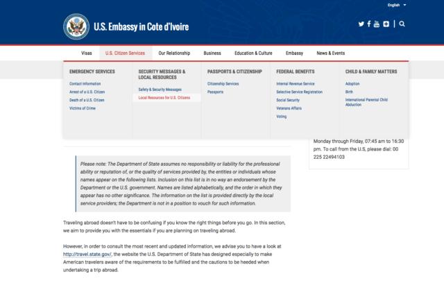 US Embassy info