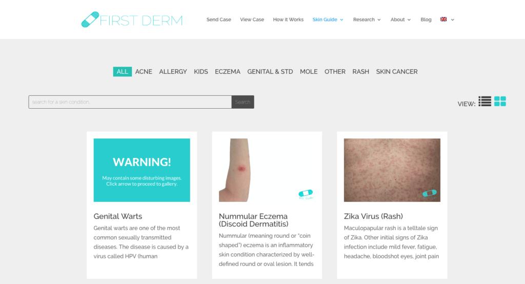 New First Derm Skin Guide