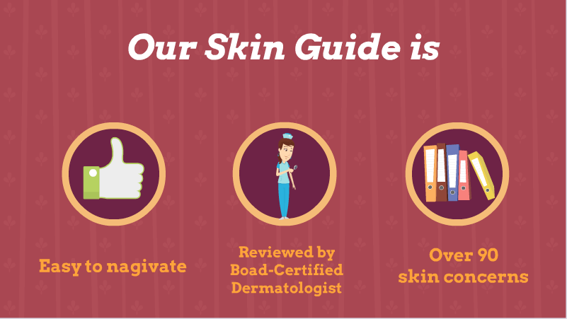 Our skin guide is easy to navigate, reviewed by board-certified dermatologists and features 90+ skin diseases
