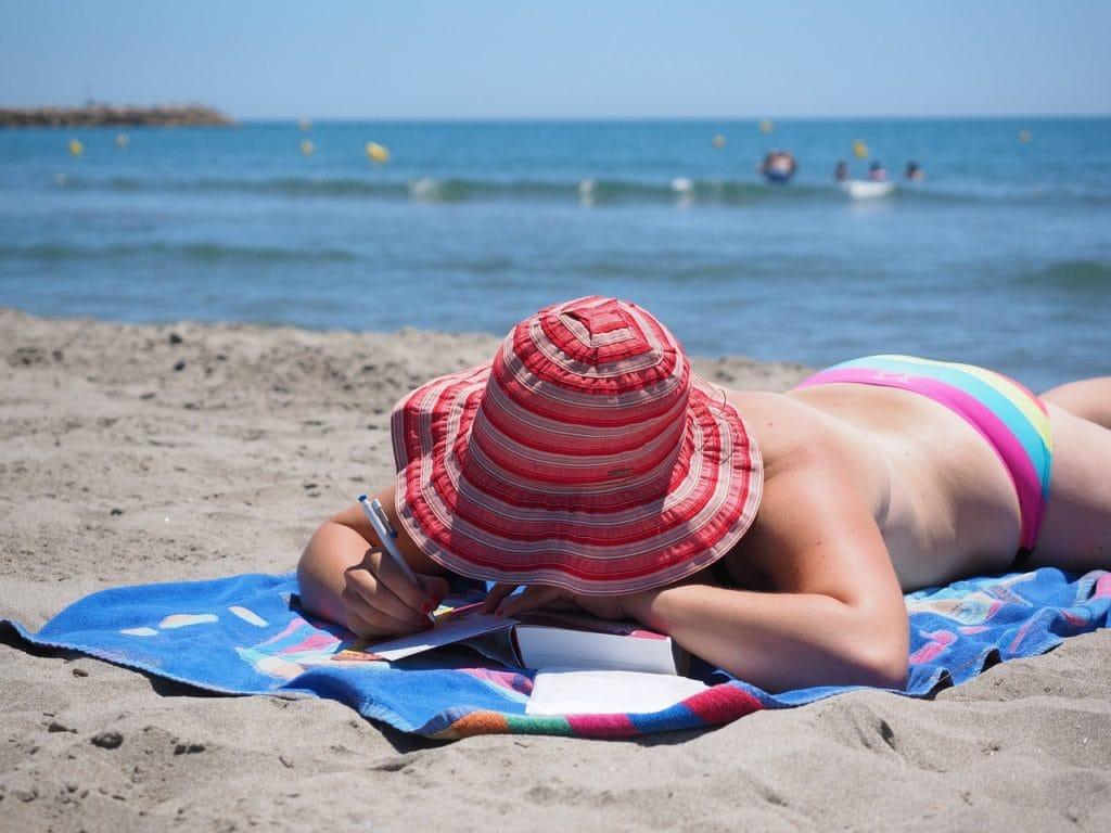 tan beach sun
