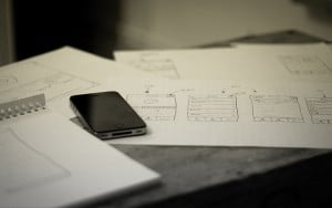 photo of app sketching process